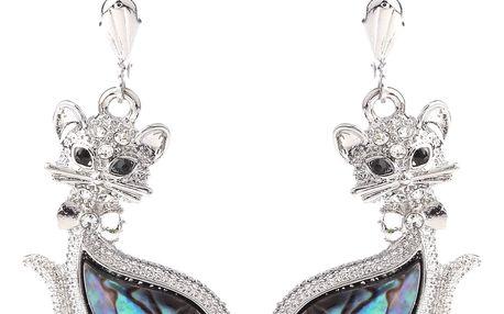 Fashion Icon Náušnice kočka s Paua perletí