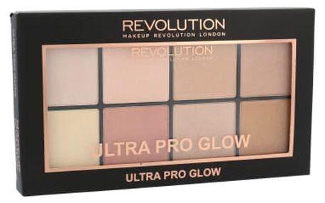 Makeup Revolution London Ultra Pro Glow Palette 20 g rozjasňovač pro ženy