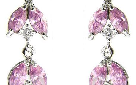 Fashion Icon Náušnice visací s barevnými kameny