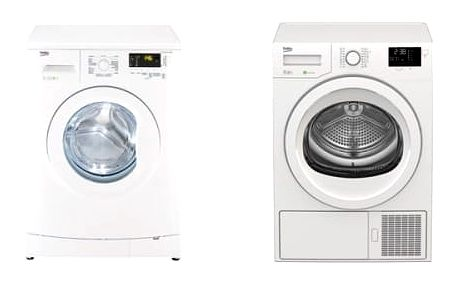 Set (Sušička prádla Beko DPS 7405 G B5) + (Automatická pračka Beko WTV 7602 CS B0)