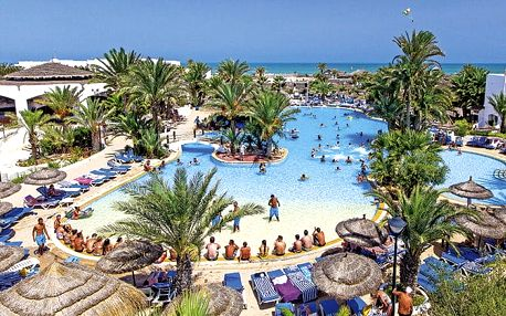 Hotel Fiesta Beach, Djerba, Tunisko, letecky, ultra all inclusive