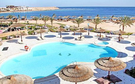 Hotel Coral Sun Beach, Hurghada, Egypt, letecky, all inclusive