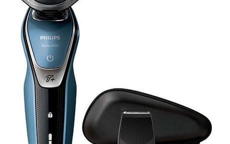 Holicí strojek Philips AquaTouch S5630/12 černý/modrý + dárek