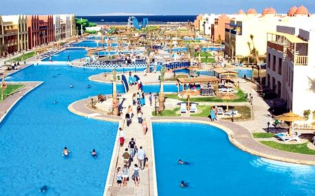 Hotel Titanic Beach Spa & Aquapark, Hurghada, Egypt, letecky, all inclusive