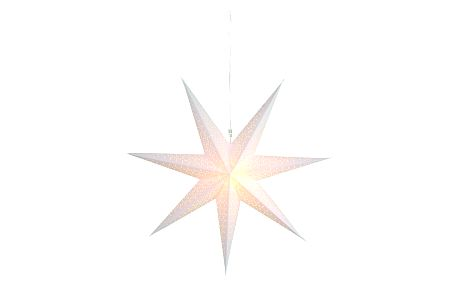 STAR TRADING Závěsná svítící hvězda Dot White 70 cm, bílá barva, papír
