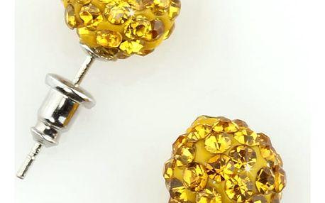Fashion Icon Náušnice pecky discoballs s krystaly