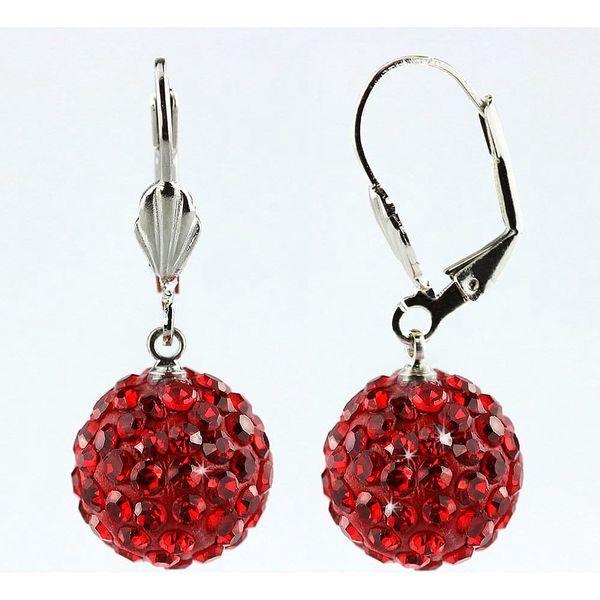 Fashion Icon Náušnice discoballs velké s krystaly