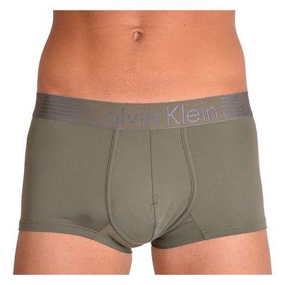 Pánské boxerky Calvin Klein iron strenght micro khaki L