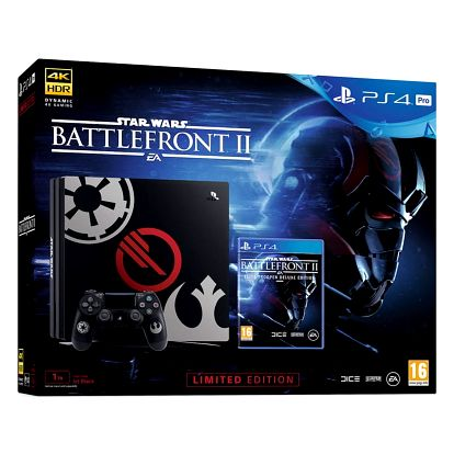 PlayStation 4 Pro, 1TB, Star Wars Battlefront II Limited Edition