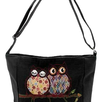 Fashion Icon Kabelka Black Love sovičky shopper mini