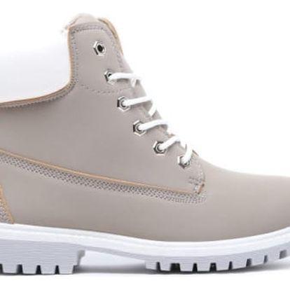 Dámské šedé kotníkové boty Cameron 094