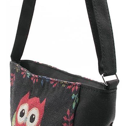 Fashion Icon Kabelka Big Owl sovičky shopper mini