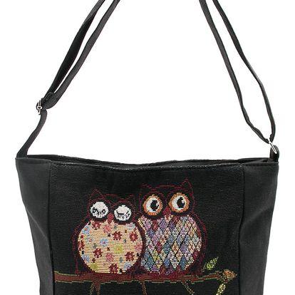 Fashion Icon Kabelka Black Love sovičky shopper mini