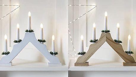 Stylový, vánoční svícen vašeho domu – 7 LED svíček
