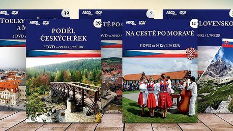 Kolekce 5 DVD: Krásy Čech, Moravy a Slezka