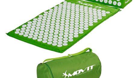 Akupresurní podložka s polštářem MOVIT 75 x 44 cm - zelená