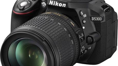 Nikon D5300 + 18-105 VR AF-S DX - VBA370K004 + Spací pytel Alpine Pro Saltan v ceně 999 Kč