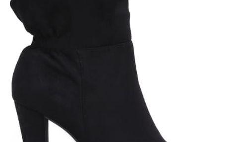 Dámské černé kotníkové boty Fontane 1088