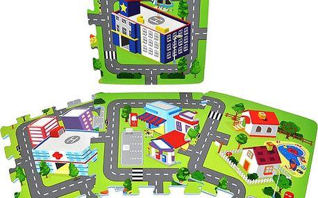WIKY Pěnové puzzle Město 9 ks