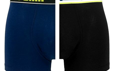 2PACK pánské boxerky Puma blue black long L