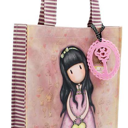 Santoro růžová nakupní taška Gorjuss The Secret