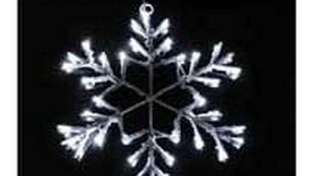 Vločka sněhová - 36 LED - studená bílá - 18000154
