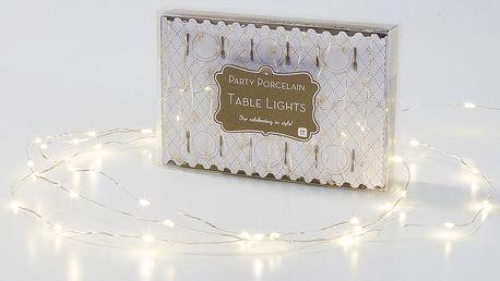 Talking Tables Světelný LED drátek Party Silver, stříbrná barva, kov