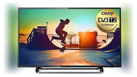 Televize Philips 43PUS6262/12 stříbrná + Doprava zdarma
