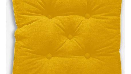 TODAY GOA polštářky na zem/podsedáky 45x45x8 cm žlutá