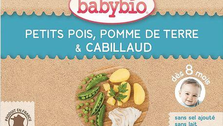 2x BABYBIO Menu hrášek a brambory s islandskou treskou 200g