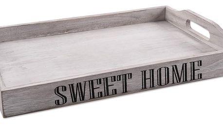 Orion Dřevěný tác s uchy Sweet home, 38 x 26 x 5,5 cm