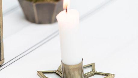 IB LAURSEN Svícen Iron star, zlatá barva, kov
