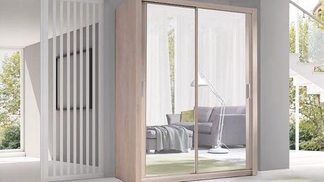 MEBLINE Luxusní šatní skříň s posuvnými dveřmi VISTA 150 - AKCE