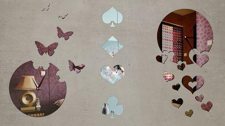 Zrcadlové samolepicí dekorace na zeď