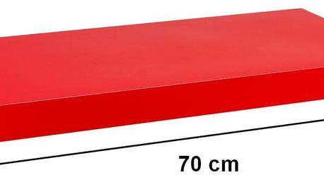 STILISTA 31058 Nástěnná police VOLATO - lesklá červená 70 cm