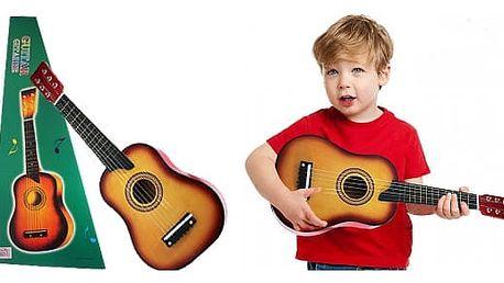 Dětská, dřevěná kytara pobavení i koníček pro Vaše ratolesti