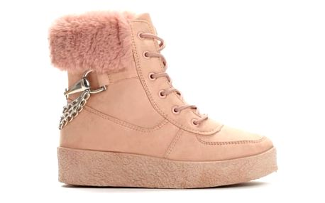 Dámské růžové kotníkové boty Zoella 8337