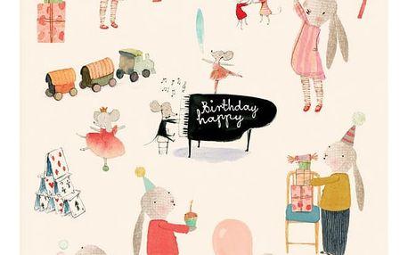 Maileg Dárkový balicí papír Maileg Happy Day - 10m, multi barva, papír