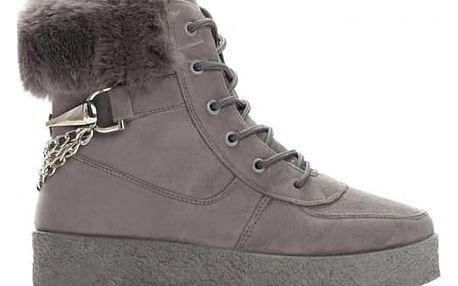 Dámské tmavě šedé kotníkové boty Zoella 8337