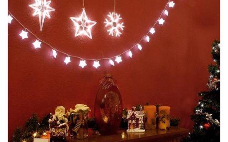 LED dekorace na okno - 3 ks - vločka, hvězdy - 18000128