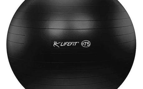 Gymnastický míč LIFEFIT ANTI-BURST 75 cm černý