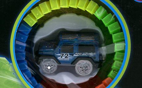 Svítící autodráha Track Car - 128 dílů