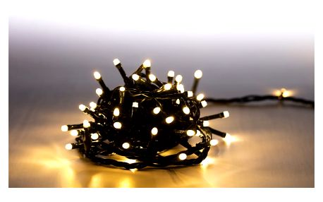 Marimex Řetěz světelný 100 LED - teplá bílá - zelená - 18000058