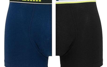 2PACK pánské boxerky Puma blue black long XL