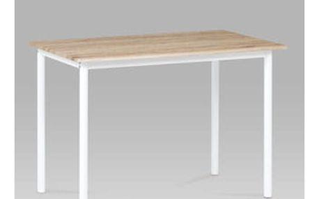 Jídelní stůl 110x70 cm, dub san remo / bílý lak Autronic