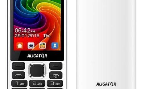 Mobilní telefon Aligator D940 Dual Sim (AD940WG) bílý