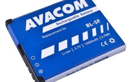 Baterie Avacom pro Nokia N95, E65, Li-Ion 3,6V 1000mAh (náhrada BL-5F) (GSNO-BL5F-S1000A)