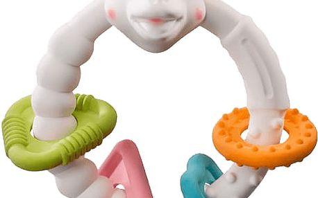 VULLI Kousací kroužek žirafa Sophie s barevnými kroužky