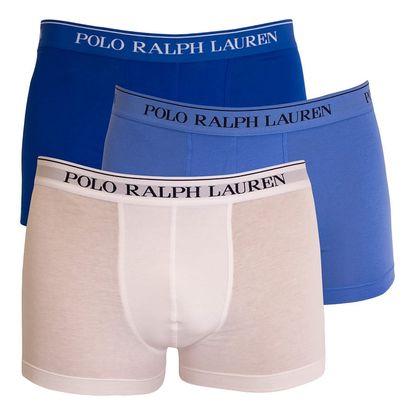 3PACK pánské boxerky Ralph Lauren modro bílé M