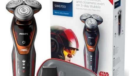 Holicí strojek Philips Star wars SW6700/14 černý + dárek